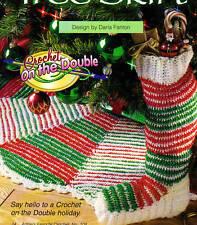 FESTIVE Christmas Stocking & Tree Skirt/Crochet Pattern INSTRUCTIONS ONLY