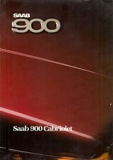 Saab 900 Convertible Turbo 16 1986-87 UK Market Sales Brochure Cabriolet