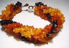 of five lines Natural Baltic Amber Bracelet