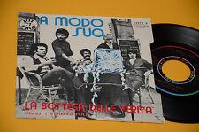 "LA BOTTEGA DELLE VERITA 7"" 45 UMANITA' 1°ST ORIG ITALY PROG 1977 NM ! TOP COLLEC"