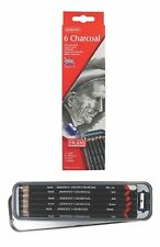 Derwent Tinted Charcoal Drawing Pencil Tin - Authentic - 6 Assorted