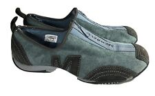 Merrell Barrado Womens Size 7 Stone Blue Leather Suede Zip Up Athletic Shoes