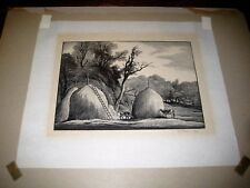Thomas W Nason Signed Limited Edition Wood Engraving Haystacks