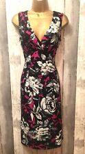 Phase Eight stretchy floral pencil wiggle cocktail evening dress size 12