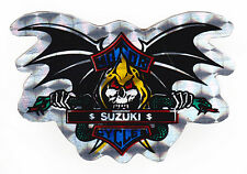 Skull & Bat Wings Suzuki Metallic Foil Sticker Motorcycles
