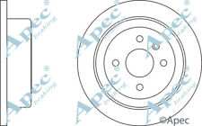 REAR BRAKE DISCS (PAIR) FOR DAEWOO NUBIRA GENUINE APEC DSK2067