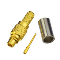 MMCX Crimp Plug Male RF Connector for RG316 RG174 LMR100 cable straight