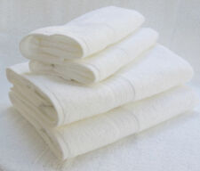 MONOGRAMMED 2 BATH/2 HANDS WHITE TOWELS SET- 100% COTTON - GRANDEUR HOSPITALITY.