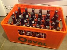 Vidange bac d'Orval (bac en plastique orange + 24 bouteilles vides)