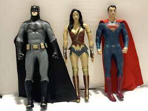 "DC Comics Action Figures Lot Of 3 Batman Super Man Wonder Women # 0416 6"""