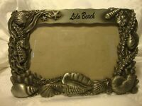 """A Gift Corp. Silver-Tone 3-D Lido Beach Metal Picture Frame 4""""x 6"""" Photo     282"""