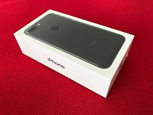 Genuine Apple iPhone 7 Plus Empty EU European Box Black - No Phone/Accessories