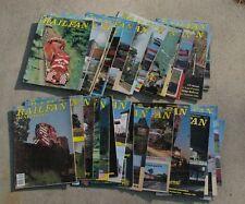 35 Issues 1975 through 1993 Railfan Railroad Magazines 1/2 are pre 1980