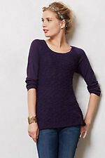 ANTHROPOLOGIE Bramble Knit Pullover Sweater XS Extra Small by Yellow Bird Purple