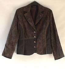 Button Cotton Blend Casual Floral Coats & Jackets for Women