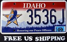 """FREE US SHIP - IDAHO """" PEACE OFFICER - EAGLE """" ID Specialty License Plate"""