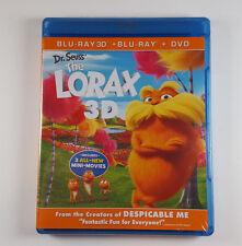 Dr. Seuss' The Lorax (3D +2D Blu-ray / DVD) + 3 Mini Movies BRAND NEW!