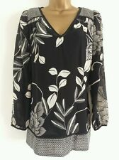 Blouse Chiffon V Neck Floral Tops & Shirts for Women