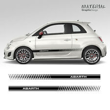 Fiat 500 595 ABARTH Side Stripes Graphics Stickers Decals Auto Pair Racing Car