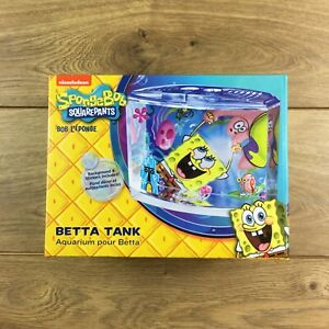 SpongeBob Squarepants Betta Fish Tank Aquarium 1.9L Penn Plax NEW!