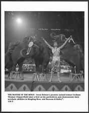 ~ Ringling Brothers Circus Graham Chipperfield Original 1990s Photo Elephants