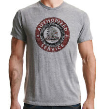 Indian Motorcycles Authorised Service Biker USA Distressed Print Grey T-shirt