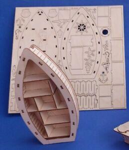 Basteln set Setzkasten Boot 1,5  mm Holz Neuheit 16 cm  2021 selbst bemalen