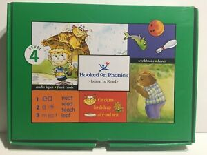Hooked On Phonics Complete Box Set Learn To Read Level 4 Books and Cassettes NEW