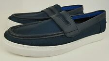 Tommy Hilfiger Men's Size 11.5 TM MCKINNEY2 Blue Textile White Sole Loafers NWOB