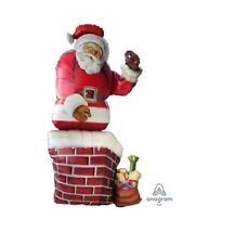 Party Supplies Santa Xmas Shape Christmas Santa Shape Foil Balloon 134cm