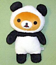 "18"" San X PANDA RILAKKUMA Round 1 2016 Plush Stuffed Black White TAN TEDDY Bear"