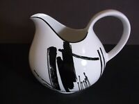 Sango The Larry Laslo Collection Calligraphy Black & White Creamer