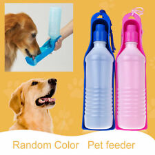 New PET TRAVEL WATER BOTTLE Portable Fordable Dog Cat Drink Feeding Bowl 500ml