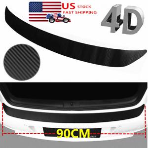 Black Accessories Car Rubber Sheet Rear Guard Bumper 4D Stickers Panel Protector