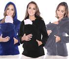 Maternity Polar warm fleece Hoodie Jumper Pullover Babywearing BABY CARRIERS