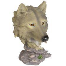 Wolfs Büste Figur Wolf Wölfe Wald Indianer Wild Life Dekofigur Dekoration WO126