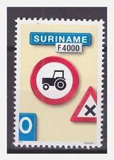 Surinam / Suriname 2001 Trafficsign 7 roadsign verkehrsschild tractor MNH
