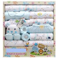 18pcs/Lot cotton newborn infant Clothes Set original baby Boy Girl Clothing gift