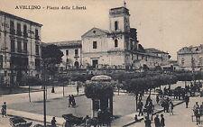 NP5871 - AVELLINO - PIAZZA DELLA LIBERTA ANIMATA VIAGGIATA 1926