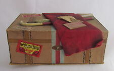 Antique Christmas Dresden Paper Candy Container Suitcase Luggage Trunk Ornament