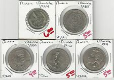 From Show Inv. - 5 UNC. 1 ROUBLE COINS..RUSSIA..1964, 1985, 1988, 1990 & 1991