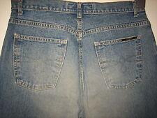 N28) WOMENS JASPER CONRAN BOOTCUT STRAIGHT LEG BLUE JEANS ZIP FLY SIZE 12 LEG 28
