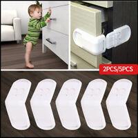 5x Baby Child Cupboard Cabinet Safety Locks Pet Proofing Door Drawer Fridge Kids