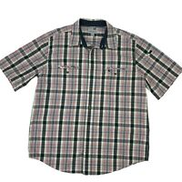 Carhartt Button Up Shirt Men's Size XL Relaxed Fit Plaid Short Sleeve Casual