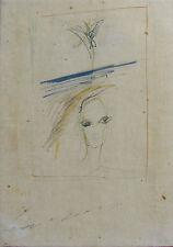 Ernesto TRECCANI (Milano 1920-2009) splendido Volto e palma anni '60/'70 cm29x21