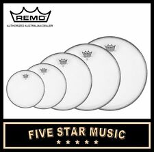"""REMO AMBASSADOR COATED FUSION 5 PCE DRUM SKIN SET PACK 8"""" 10"""" 12"""" 14"""" 16"""" HEADS"""