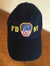 FDNY Navy Blue Baseball Cap Adjustable