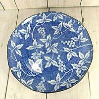 "Vintage Takahashi San Francisco Blue White Asian Scalloped 7 1/2"" Dish Plate"