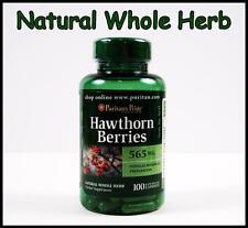 #1 Puritans Pride HAWTHORN BERRIES 565 mg - 100 Capsules Whole Herb Heart Health