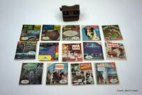 HUGE VINTAGE VIEWMASTER LOT w/ VIEW-MASTER VIEWER & REELS TESTED